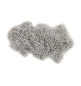 "35"" MONGOLIAN LAMB RUG/THROW - GRAY"