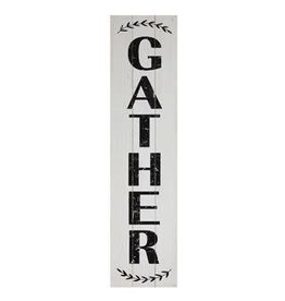 "47"" H WOOD WALL DECOR ""GATHER"""