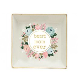 JEWELRY TRAY BEST MOM FLORAL