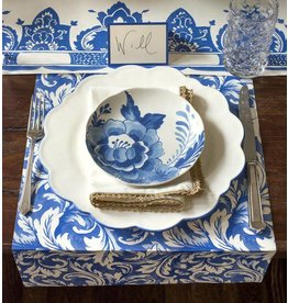 HESTER AND COOK CHINA BLUE PAPERE PLACEMAT - ACANTHUS