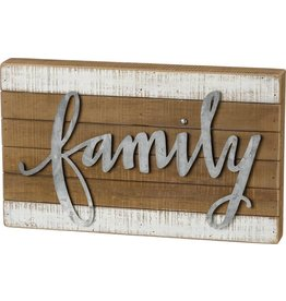 SLAT BOX SIGN FAMILY