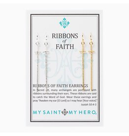 RIBBONS OF FAITH EARRINGS SET OF 2