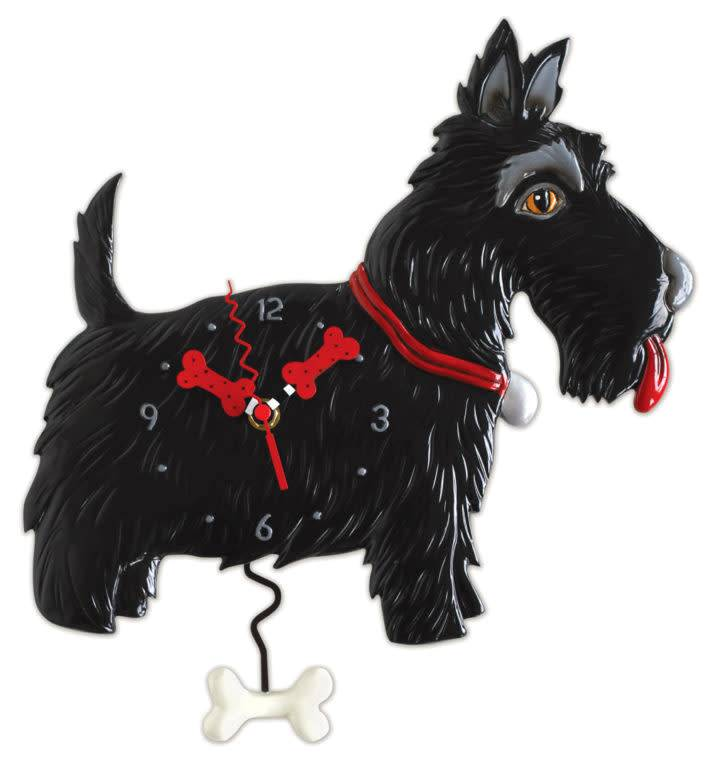 ALLEN CLOCK SCOTTIE DOG
