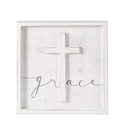 GRACE CROSS PLAQUE