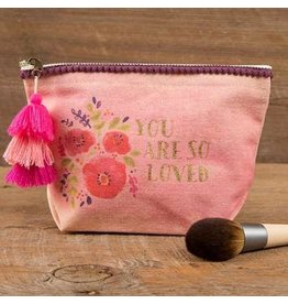 CANVAS MAKEUP POUCH SO LOVED