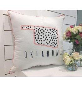 Calamity Jane confetti state pillow