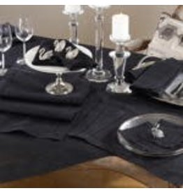 ROCHESTER HEMSTITCHED PLACEMAT BLACK