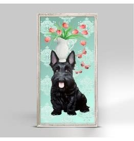 GARDEN SCOTTIE FRAMED CANVAS 5X10