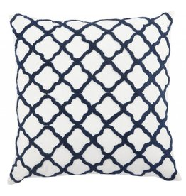 MOORISH EMROIDERED PILLOW, BLUE