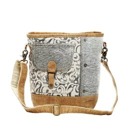 Myra HAIR-ON FLAP POCKET SHOULDER BAG