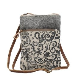 Myra LEAF PATTERN CROSS BODY BAG
