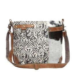 Myra HAIRON AND COTTON RUG SHOULDER BAG