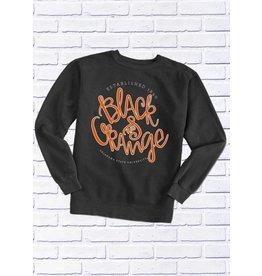 Calamity Jane OSU BLACK & ORANGE CREW SWEATSHIRT