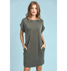 SHORT SLEEVE SHORT DRESS W/ POCKETS