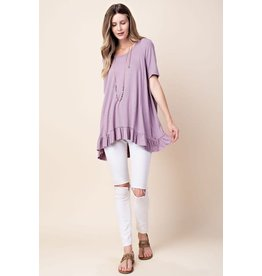 A LINE WITH BOTTOM FRILL TSHIRT