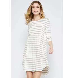 STRIPED MODAL BABY DOLL DRESS