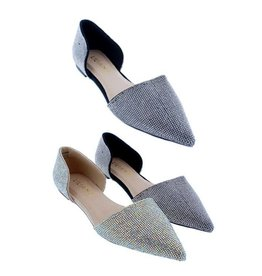 AMA GLOBAL IVY RHINESTONE FLAT