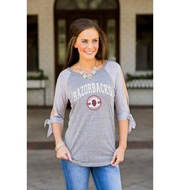 Gameday Couture Collegiate Tie Sleeve Raglan
