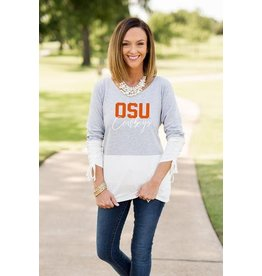 Gameday Couture COLLEGIATE CALLING THE SHOTS COLOR BLOCK TOP
