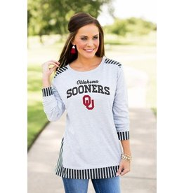 Gameday Couture SKIP THE LINES OVERSIZED TUNIC