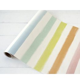 """HESTER AND COOK SORBET PAINTED STRIPE RUNNER 20""""X25'"""
