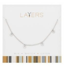 CENTERCOURT LAYERS SILVER NECKLACE $19.99 OR 2/$30