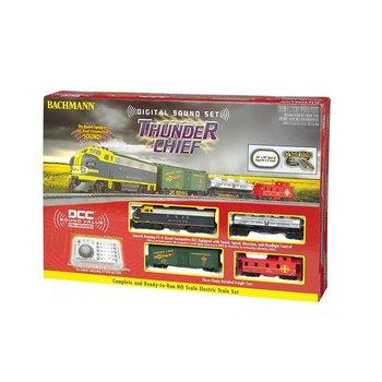 Bachmann HO DCC Thunder Chief Santa Fe Sound Diesel Set # 00826