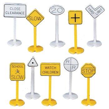 Bachmann HO 42204 RAILROAD & STREET SIGNS (24 pcs)
