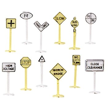 Bachmann N 42513 RAILROAD & STREET SIGNS (24 pcs.)