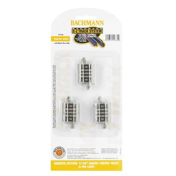 "Bachmann N EZ Track Gray QTR SECTION 17.5""RADIUS # 44835"