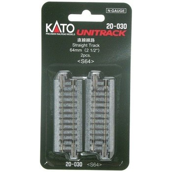 Kato N (64MM) Straight Track (2) # 20-030
