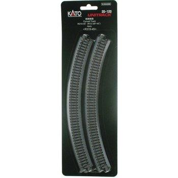 Kato N Curved Track R315-45 Deg (4) # 20-120