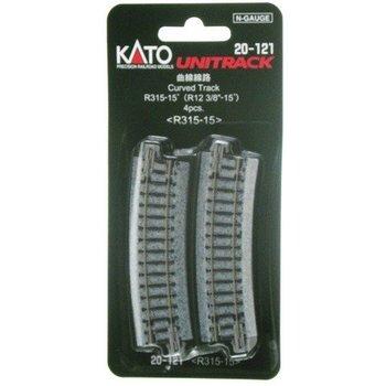 Kato N Curved Track R315 15 Deg # 20-121