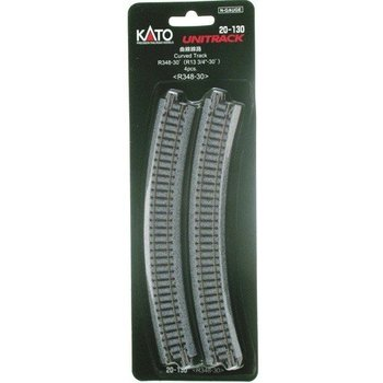 "Kato N Unitrack Curved Track R13 3/4""-30 Dreg # 20-130"