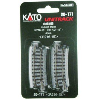 Kato N Curved Track R216mm 15 Degree Curve (4) # 20-171