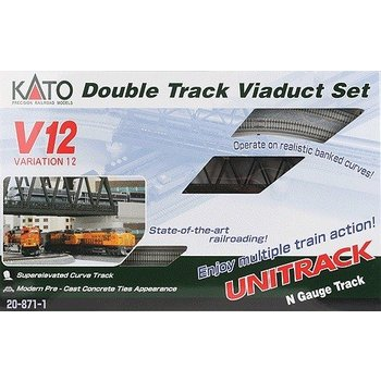 Kato N V12 Double Track Viaduct set # 20-871