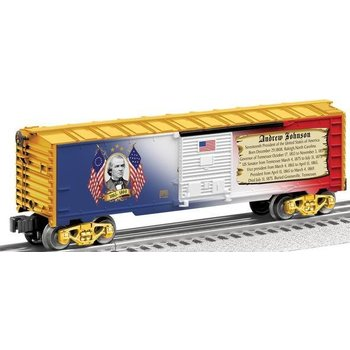 Lioenl O Andrew Johnson Presidents Boxcar # 6-25931