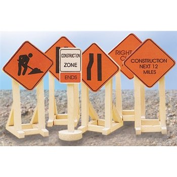 Lionel O Construction Zone Signs # 6-32902