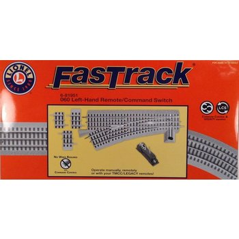 Lionel O Fastrack 060 Left Hand Remote / command Switch # 6-81951