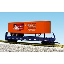 USA G Moxie Flatcar with Trailer # R17031