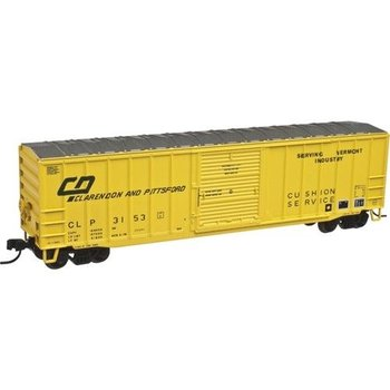 "Atlas N 50001540 ACF(R) 50'6"" Boxcar - Ready to Run -- Clarendon & Pittsford #3131 (yellow, green)"