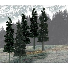 "Woodland Scenics Coniferous Tree Pack - Ready Made Trees 6 to 8""  15.2 to 20.3cm pkg(12) # 1582"