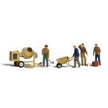 Woodland Scenics O Masonry Workers and Accessories pkg(11) # 2753