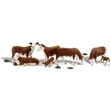 Woodland Scenics O Hereford Cows pkg (7) # 2767