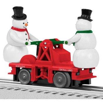 Lionel O Escaping Snowmen Handcar # 6-82701