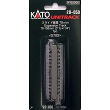 "Kato Straight Roadbed Expansion Track Section - Unitrack -- 3 - 4-1/4""  78-108mm # 20-050"