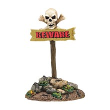 Department 56 Halloween Beware the boneyard sign # 4047607