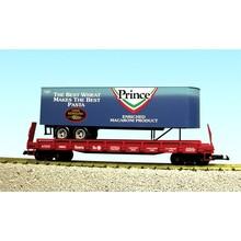USA G Prince Pasta Flatcar with Trailer # R17029