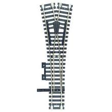 Atlas Code 100 Custom Line Mark 4 Turnout - Nickel-Silver -- Wye, Black Ties # 280