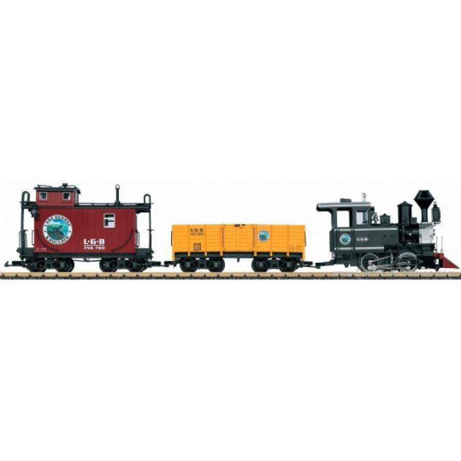 LGB G Lake George Boulder American Freight Train set 72426 – Lgb Train Track Wiring